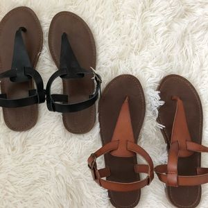 two pairs of mossimo sandals